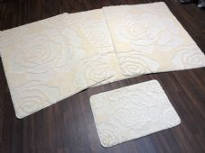 ROMANY WASHABLES NEW SETS OF 4 MATS XXLARGE SIZE 100X140CM CREAM ROSE NON SLIP